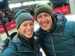 Ready for the finals Women's Luge with Tim Singer! Thanks for all your help on the luge knowledge!!