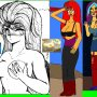 when enuma looks amorous her hair is red belongs to mado king granzort her is completely naked just nisella did apart