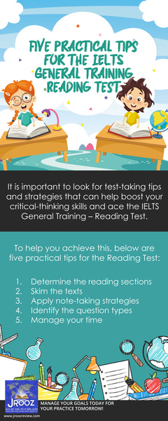 Five Practical Tips for the IELTS General Training Reading Test