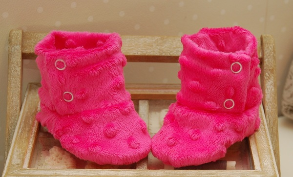 Dimple Minky Baby Shoes