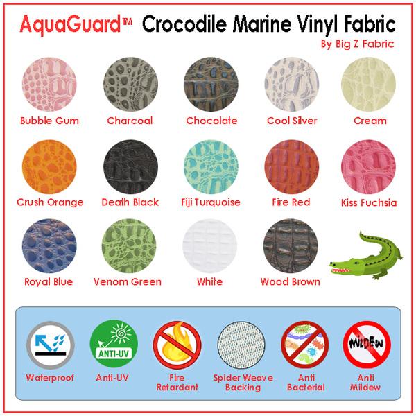 Aquaguard® Crocodile Marine Vinyl Fabric - Auto/Boat - Upholstery Fabric