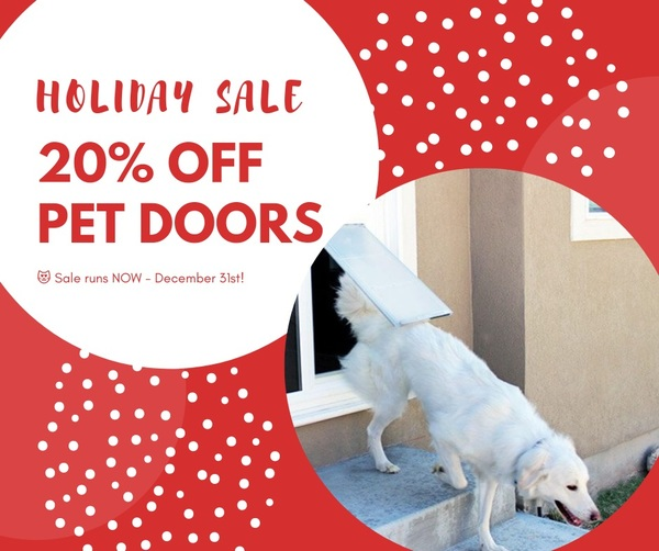? It's the LAST DAY to get any one of our pet doors for 20% OFF! Don't miss out on this great deal! http://bit.ly/2HxD5Ho