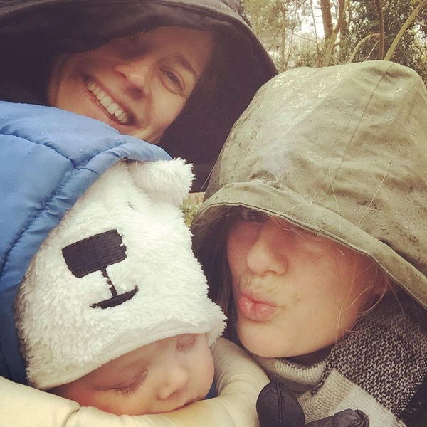 Saturday family walk 👩👱‍♀️👶🐾 #noweathercanstopus!