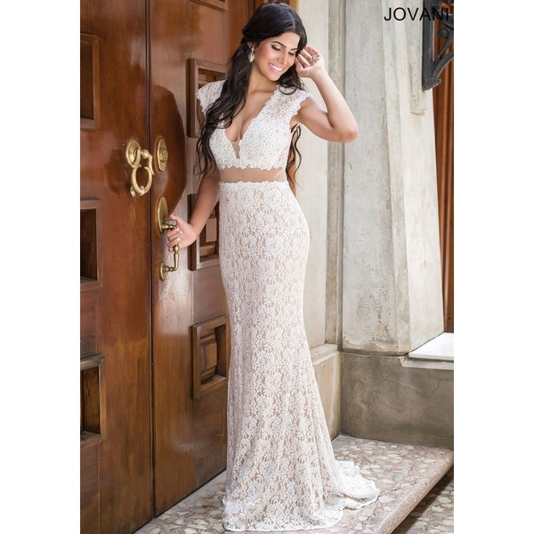 Jovani 31050 Prom Dress - Jovani V Neck Prom Long Fitted Dress - 2017 New Wedding Dresses