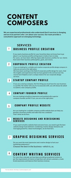 Company Profile Writing Services - Designing and Making