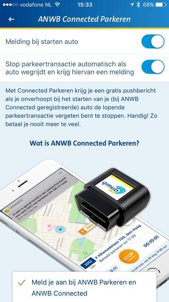 Binnenkort verschijnt versie 3.4 van de app met automatisch afmelden bij parkeren als je wegrijdt. Handig!