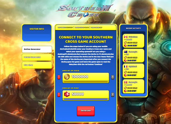 Southern Cross Hack Cheat Generator Gold and Ruby Unlimited