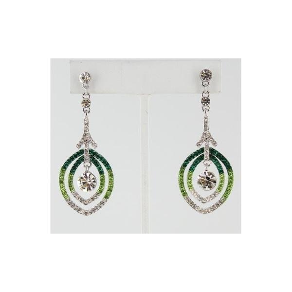 Helens Heart Earrings JE-E08844-G-Green Helen's Heart Earrings - Rich Your Wedding Day