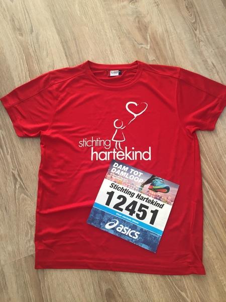 Startnummer en shirt voor @damtotdamloop binnen. Hardlopen voor @Hartekind a.s. zondag. Dank aan alle donateurs!
