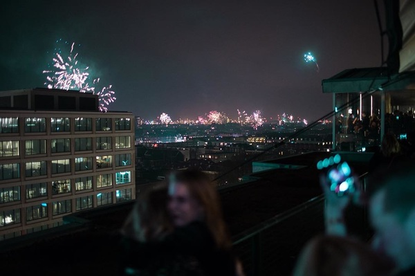 We hope you entered 2018 with a Big Bang! The best wishes for 2018 🍾🎇 #rooftop #nye #tsc