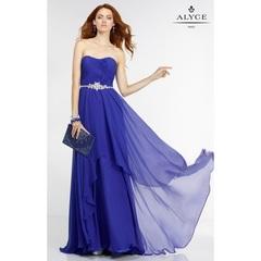 Black Alyce Paris 6545 - Chiffon Dress - Customize Your Prom Dress