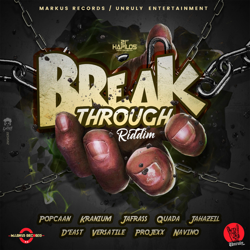 VARIOUS ARTISTS - BREAKTHROUGH RIDDIM #ITUNES 3/16/18 #PREORDER 2/16/18 @1realmarkus @popcaanmusic @therealkranium