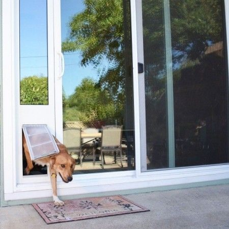 Sliding door inserts are an excellent for renters or just to see if a pet door is right for your pet and your lifestyle. Because there's no cutting, there's no commitment! http://bit.ly/2M12Th6