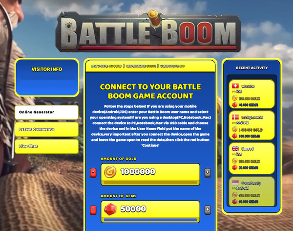 Battle Boom Hack Cheat Generator Gold and Gems Unlimited
