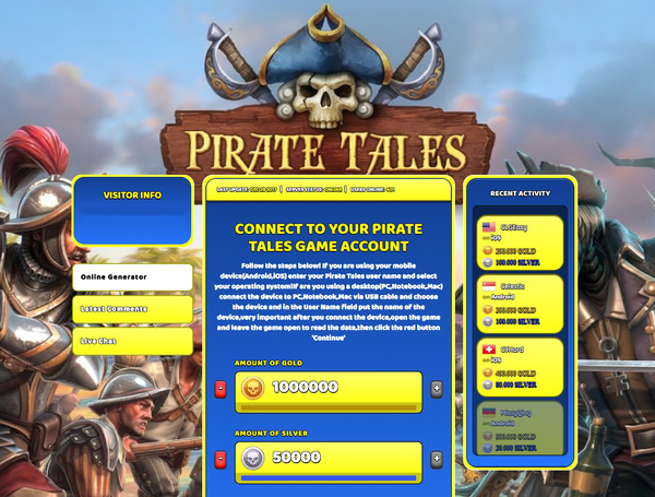 Pirate Tales Hack Cheat Generator Gold and Silver Unlimited