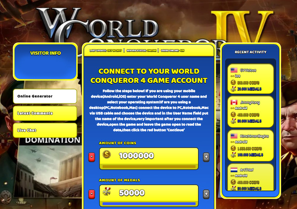 World Conqueror 4 Hack Cheat Generator Coins and Medals Unlimited