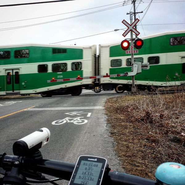 #gotrain #scarborough #cycling #waterfronttrail #roadcycling #cyclinghazards #@ridebontrager #ion800r #electrabells #trekbikes #topfuel #staffwhoride #northerncycle @northerncycleajax
