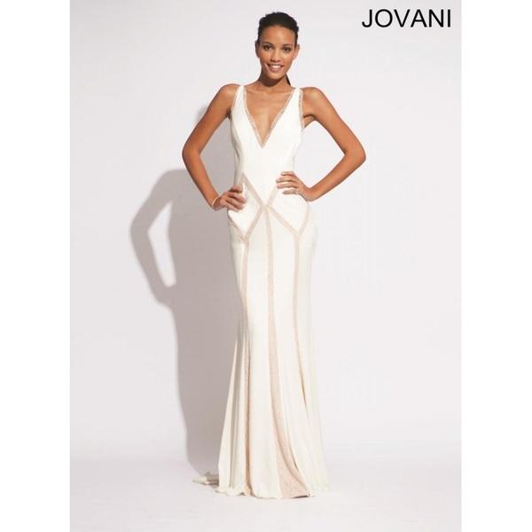 Ivory Jovani Prom 73459 - Brand Wedding Store Online