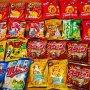 お菓子詰め放題。1袋あたり21.375円でした。得したのかな⁉️ #詰め放題 #お菓子詰め放題 #japanfood #かっぱえびせん #サッポロポテト #スコーン #キャラメルコーン #ポリンキー