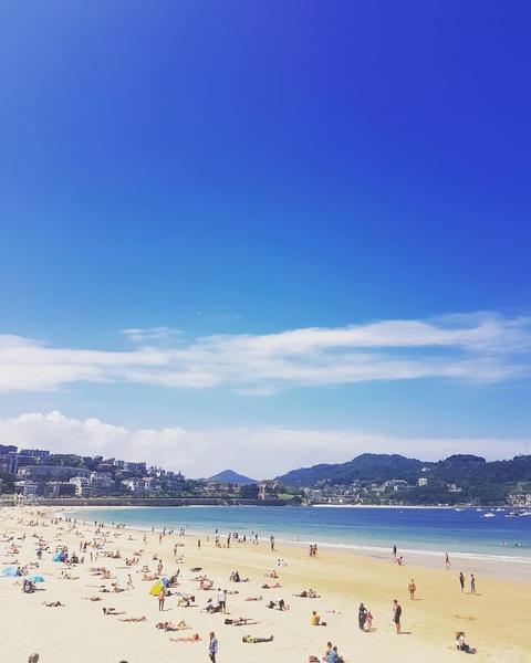 Adios, ansichtkaartelijk San Sebastian! 👌 #donostia #espagne #bvakantie #genietos