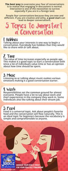 5 Topics to Jumpstart a Conversation