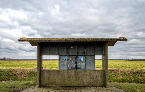 The lonely busstop. Once used now out of function.  #urban #urbex #broken #cloud #awesome #weather #grunn #nikond500 #d500 #architecture #groningen #busstop #kapot #bushokje #Nederland #wolken #grey #green #iamnikon #ig_nikon #bestofnetherlands  #dutch #rtvnoord