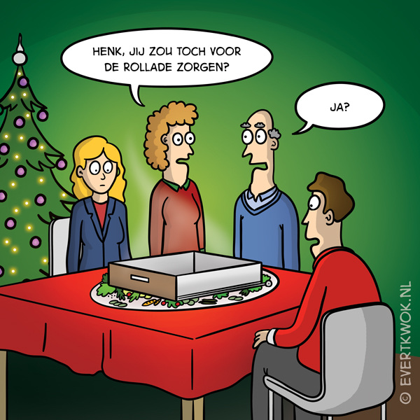 Kerstdiner #cartoon