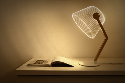 Original 3D lampshades with LED optical illusion
