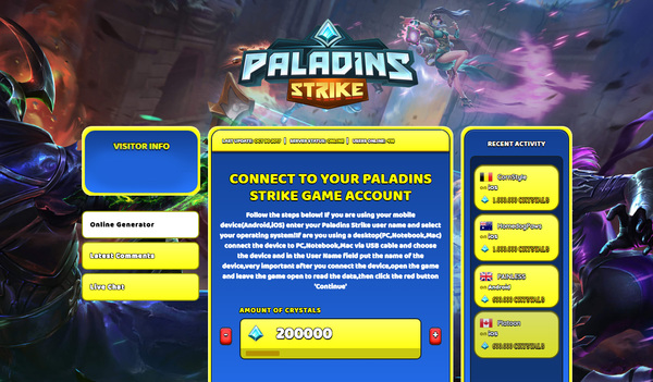 Paladins Strike Hack Cheat generator Crystals Unlimited