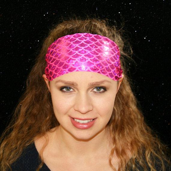 Fitness Yoga Mermaid Spandex Headband
