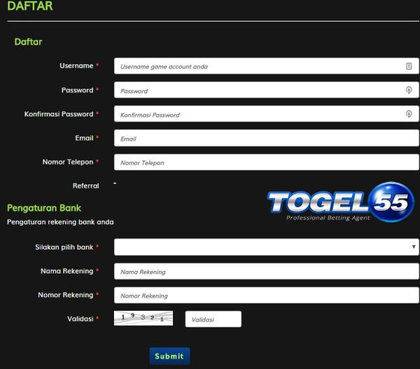 Panduan Daftar Togel55 | Agen Resmi Judi Togel Online