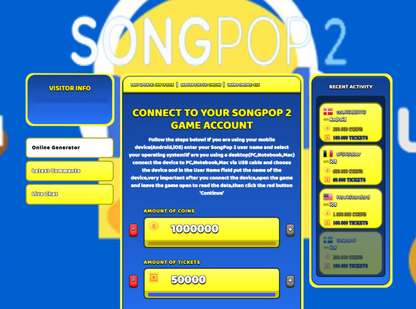 SongPop 2 Hack Cheat Generator Coins and Tickets Unlimited
