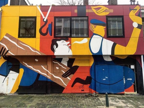 Handen uit de mouwen 💪 #streetart #hoornbrekerstraat #rotterdam