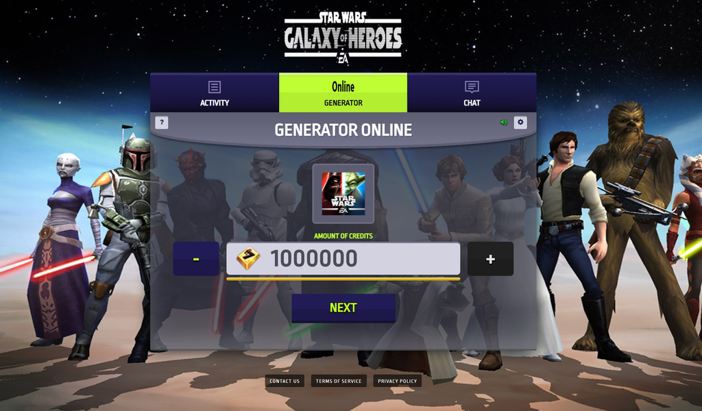 Online Star Wars Galaxy of Heroes Hack Mod Credits and