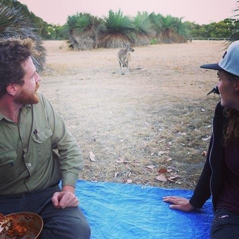 Chilli and roo's #camping #deepcreek #kangeroo #sa photo by @helderejan56