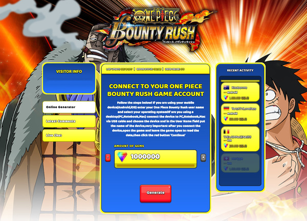 One Piece Bounty Rush Hack Cheat Generator Gems Unlimited
