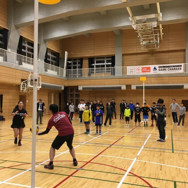 Korfball workshop at the local comprehensive sports club #GameChanger project!