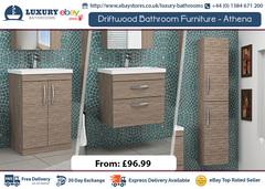 Designer Driftwood Bathroom Furniture Vanity Unit & Basin Storage Cabinet Sink