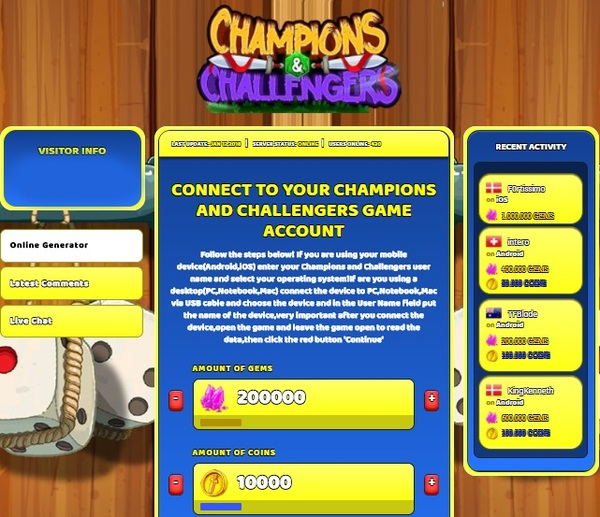 Champions and Challengers Hack Cheat Generator Gems and Coins Unlimited