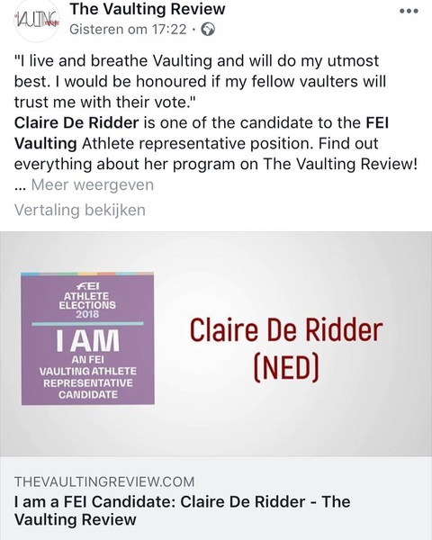 You feel your voice And opinion is important as an athlete?! Then Go check out My ideas And why I think You should vote for me as FEI candidate as vaulting representative. Voting Will start monday!! Your voice counts 💪 link in bio @the_vaulting_review @knhsnederland @knhsvv @cvi_ermelo @fei_global . . #yourvoiceismyvoice #vaulting #fei #your #voice #important #future #olympics