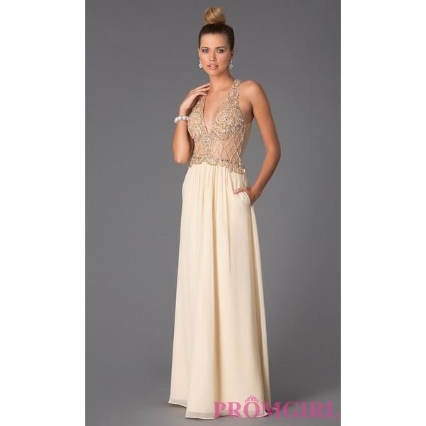 Sleeveless Floor Length V-Neck Dress by Bari Jay - Brand Prom Dresses|Beaded Evening Dresses|Unique Dresses For You