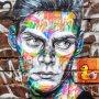 Streetart in London, Brick Lane.  #streetart #london #londonist #london_city_photo #bricklane #awesome_shots #nikond500 #iamnikon #ldn #coolshot #art #color #colorful #awesome #walls #face #portrait #nikonnl #travel #travelphotography #nicepic #insta #londongraffiti #graffiti #paint