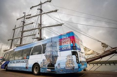 """Tof! De @stadamsterdam gespot op deze coole bus!  RepostBy @tsrh2018: """"Wij zijn trots op onze eigen Arriva bus! Arriva Nederland verbindt The Tall Ships Races Harlingen 2018. Vanaf vandaag is de bus te spotten in onze provincie! Link in bio. #tsrh #arriva #harlingen #2018 #bus"""" (via #InstaRepost @AppsKottage)"""