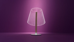 Original 3D lampshades with LED optical illusion