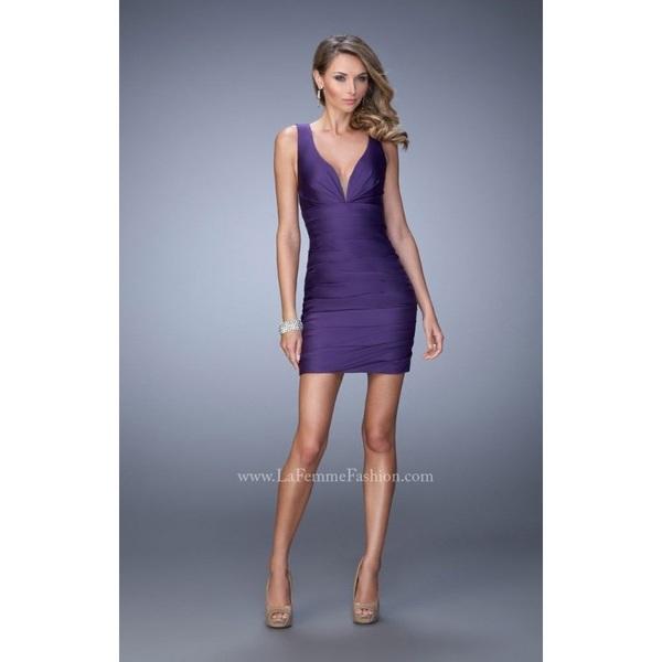Black La Femme 22102 - Short Open Back Dress - Customize Your Prom Dress
