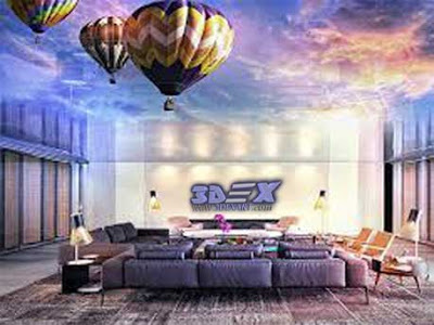 Top 3D ceiling designs and murals on false ceiling 2018