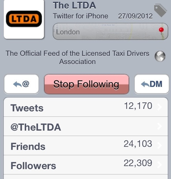 Go through the LTDA 22k followers, see how long it takes you to find a Taxi driver Fake Followers Don't Count Steve