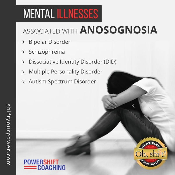Mental Illnesses Associated with Anosognosia