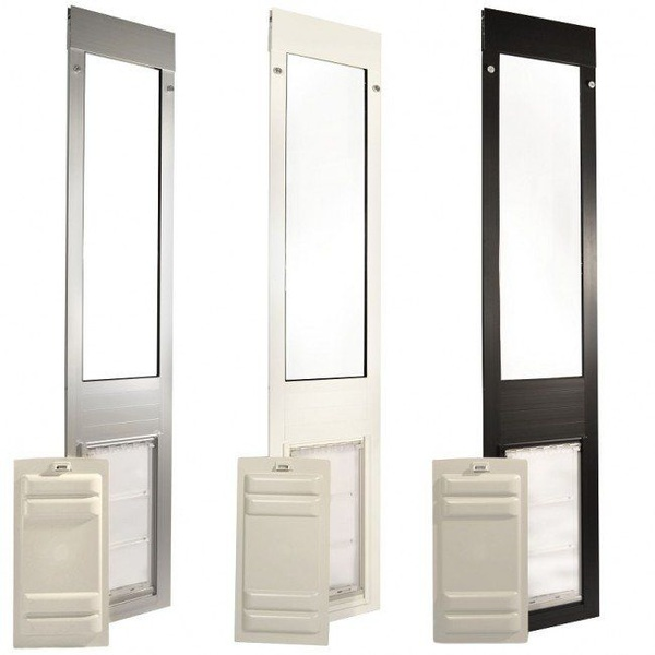 A Removable Pet Door Panel Insert might be the perfect pet door solution for you. Check it out http://bit.ly/2M12Th6