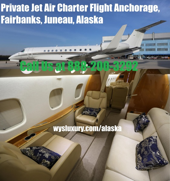 Hire Private Plane Jet Charter Flight Service Anchorage, Juneau, Fairbanks, AK